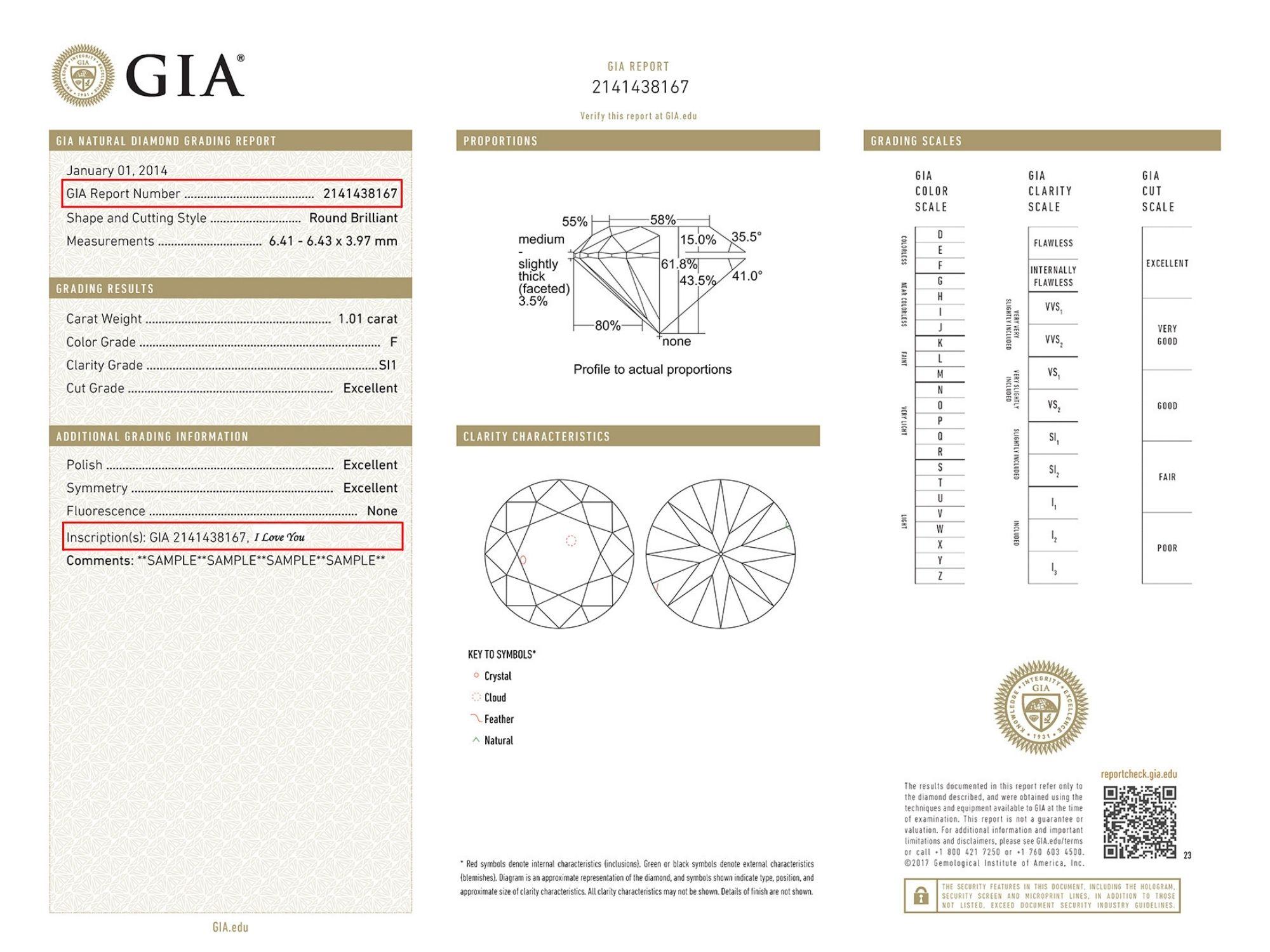 Diamond Laser Inscription In A Grading Report
