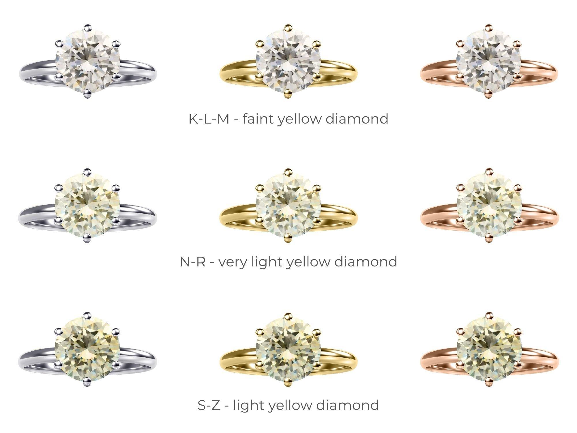 Yellow Tinted Diamonds In Different Metals   Diamond Buzz