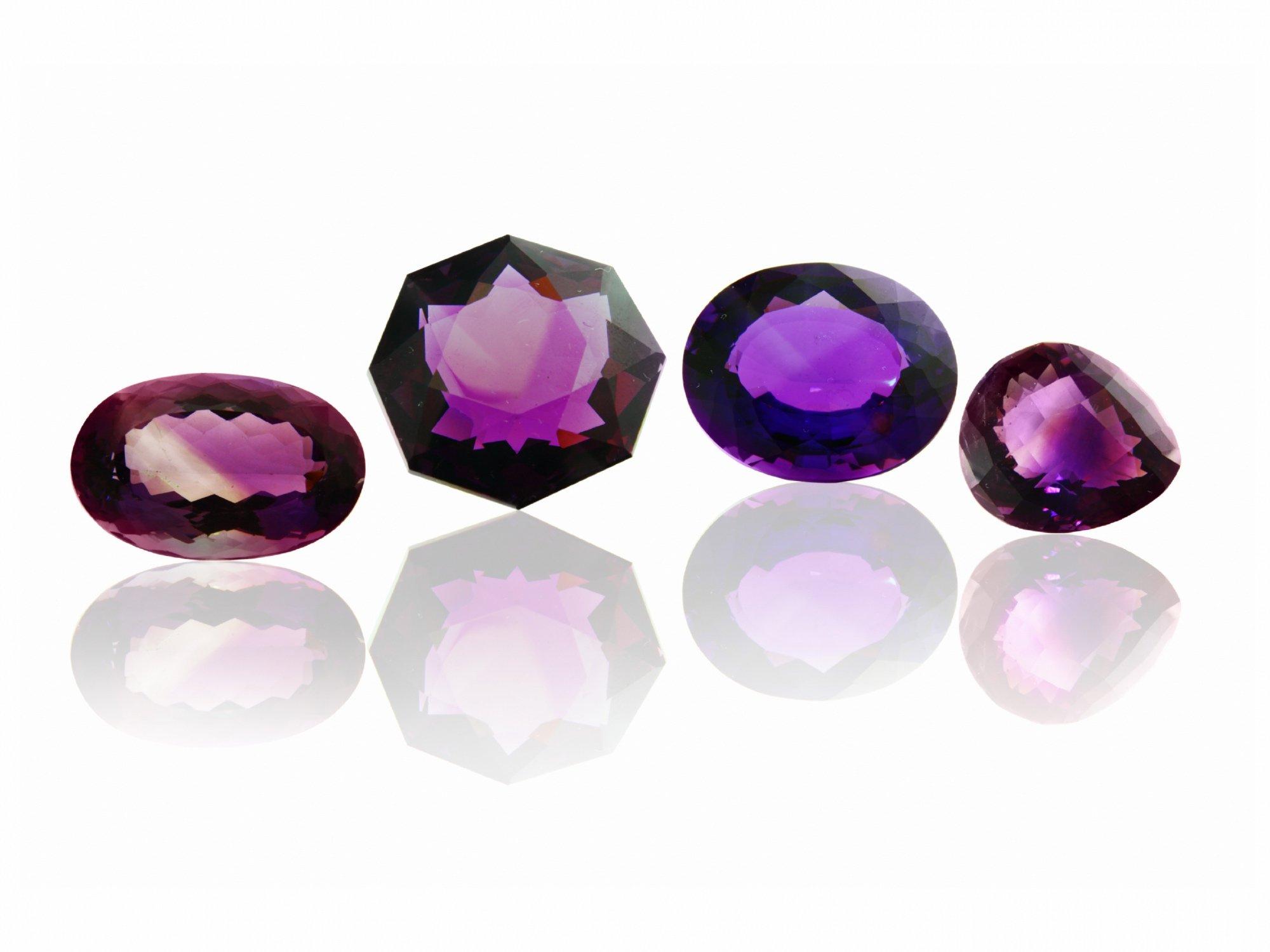 Amethysts In Various Cuts | Diamond Buzz
